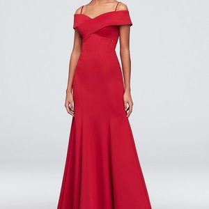 Red Off-The-Shoulder Mermaid Prom Dress Size 3